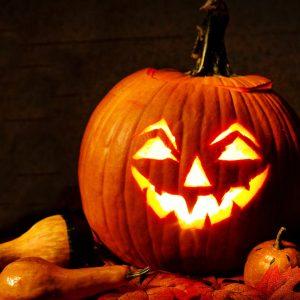 jack-o-lantern, lit, pumpkin