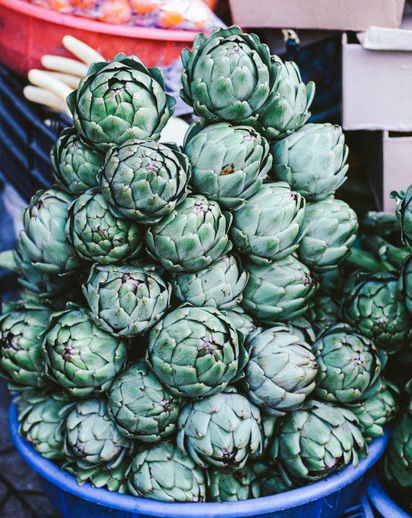 bowl of pine cones